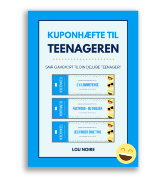 Kuponhæfte til teenageren – blå - cover